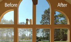 Before & After Residential Window Tinting in Jacksonville, FL