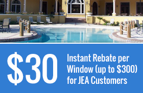 $30 Instant Rebate per Window (up to $300) for JEA Customers