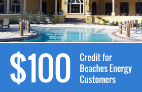 $100 Credit for Beaches Energy Customers