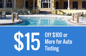 $15 Off $100 or More for Auto Tinting